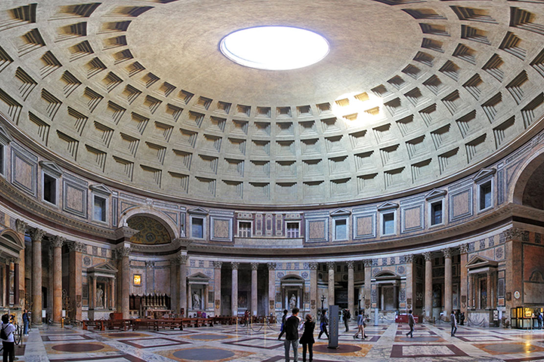 Inside the Pantheon, Rome.