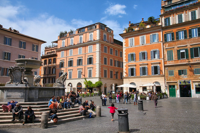 Trastevere area in Rome. True urban city life.